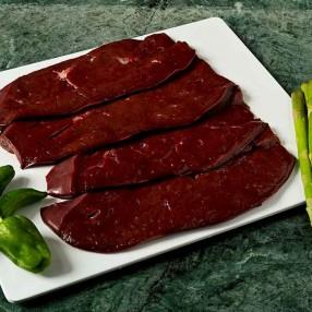 Filetes de higado de Ternera peso aproximado bandeja 500 grs