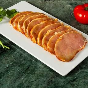 Lomo de cerdo adobado en filetes peso aproximado bandeja 500 grs