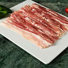Panceta de cerdo en lonchas peso aproximado bandeja 500 grs