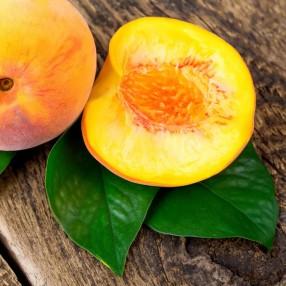 Melocoton amarillo grande peso aproximado bandeja 1,4 kg