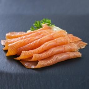 Salmon ahumado peso aproximado sobre 180 grs
