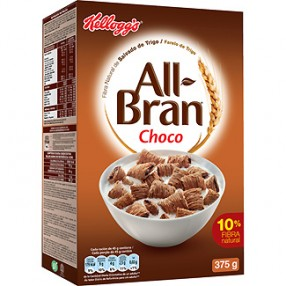 KELLOGG´S ALL BRAN Choco cereales paquete 375 grs
