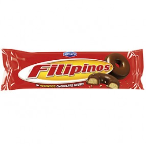 FILIPINOS con chocolate negro paquete 100 grs