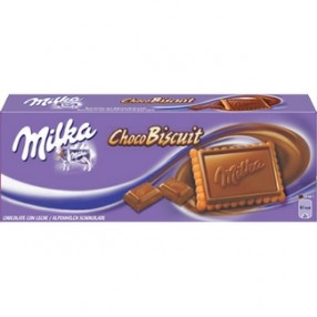 MILKA Chocobiscuits galleta con chocolate milka con leche caja 150 grs