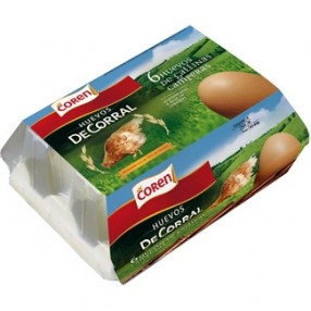 COREN huevos de corral de gallinas camperas estuche 6 unidades
