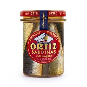 ORTIZ EL VELERO Sardinas a la antigua frasco 190 grs